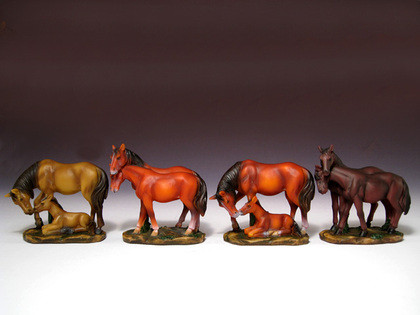 Four assorted horses