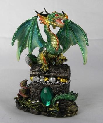 Green dragon one  a treasure chest