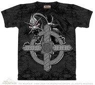 Celtic Cross with Black Dragon
