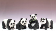 Four assorted pandas