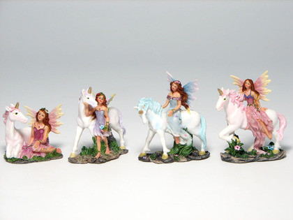 Four assorted fairy with unicorn.