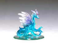 Blue dragon on mirror base
