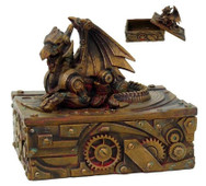 Steampunk dragon jewelry box