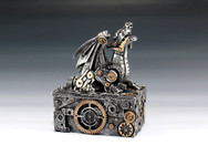 Silver Steampunk Dragon Box
