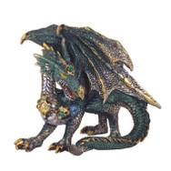 Small Green Metallic Dragon