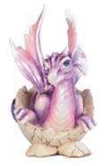 Hatching Dragon with Birthstone February