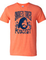 This is the official t-shirt of the Snake's Takes Podcast.  Proceeds from the sales of this shirt go to The Jake Plummer Foundation.  100% Cotton Bella Canvas tshirt.  Check out the podcast at  http://www.podcastone.com/Snakes-Takes-with-Jake-Plummer