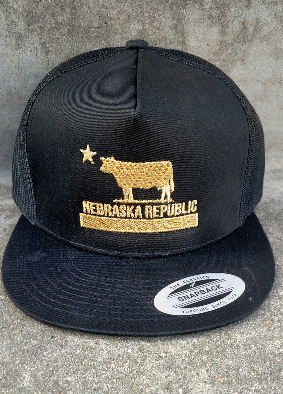a8530368366 Nebraska Republic flatbill (Black Gold) - bbbprinting.com