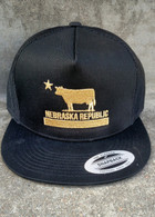 Nebraska Republic flatbill (Black/Gold)