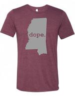 Dope Mississippi Maroon unisex-t