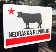"Nebraska Republic 4"" vinyl sticker"