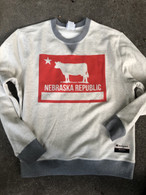 Nebraska Republic flag Champion crewneck (cream)