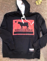 Nebraska Republic flag Champion hoodie (black)