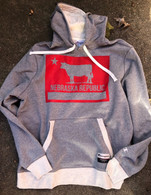 Nebraska Republic flag Champion hoodie (gray)
