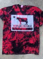 Nebraska Republic Flag Tie Dye