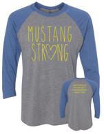 Mustang Strong baseball shirt