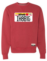 License Plate crewneck (red)