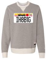 License Plate crewneck (gray)