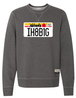 License Plate crewneck (charcoal)
