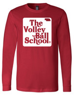 Volleyball School long sleeve (red)