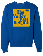 Volleyball School blue crewneck