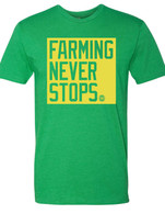 Farming Never Stops green