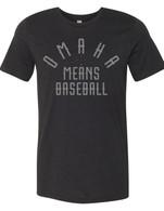 Omaha Means Baseball black (youth)
