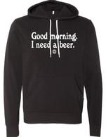 Good Morning hoodie (black)