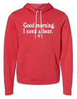 Good Morning hoodie (red)