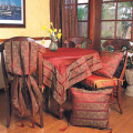 """90"""" Sheer Runner with Jacquard Border and Tassels"""