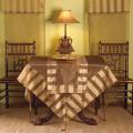 """72"""" Striped Sheer Tissue Runner with Gold Tones and Tassels"""