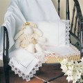 Handmade Hemstitch and Filet Crochet Baby Sheet Set