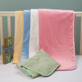 Plush Microfiber Baby Blankets with Silk Trim