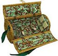 Burgundy Bliss Willow Two Person Wine Cheese Basket