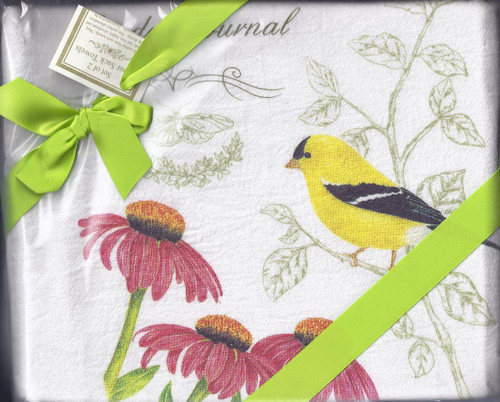 Dish Towel-Yellow Bird Set2