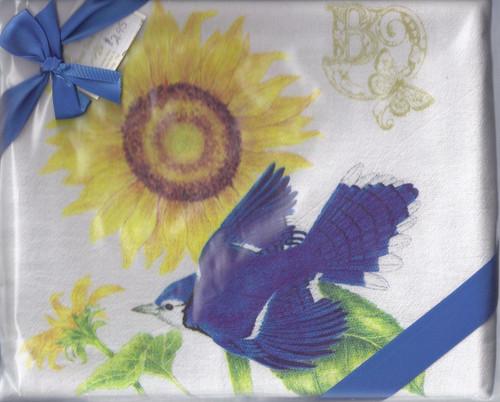 Dish Towel-Blue Bird Set2