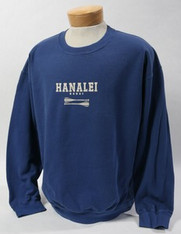 Hawaii Crew Bomber Sweat Blue