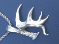 Large single shed with drop. Silver Dollar size,  Stainless Steel