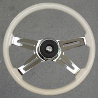 "VIP Steering Wheel 18"" White"