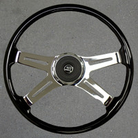"VIP Steering Wheel 18"" Black"