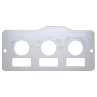 Peterbilt Stainless A/C Control Plate - 3 Square Opening
