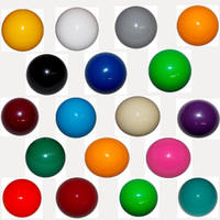Shift Knob Solid Color Round Threaded