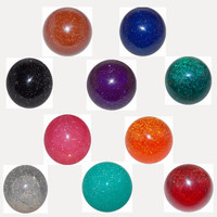 Shift Knob Glitter Round Threaded