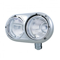 Headlight Bucket Dual Round Passenger Side Stainless