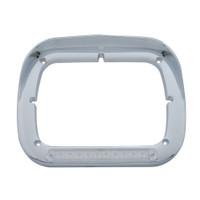 10 LED Single Headlight Bezel w/ Visor - Amber LED/Clear Lens