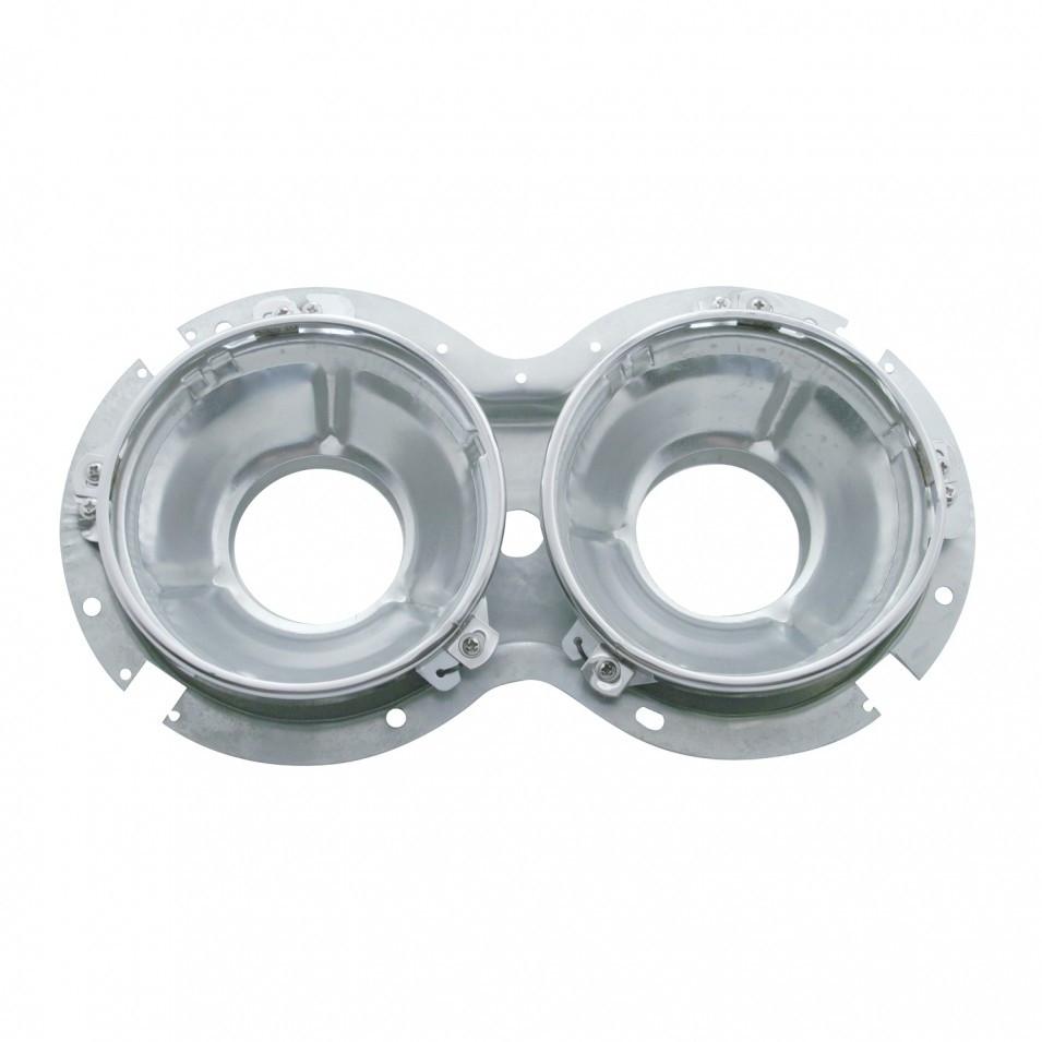 Peterbilt 359 Inner Headlight Bucket Double Round Headlights