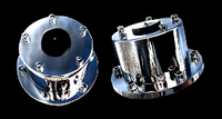 Chrome Plated Billet Alluminum Front Oil Cap Covers (Sold as Pair)