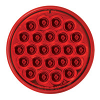 "LED 4"" Round Red Pearl Light"