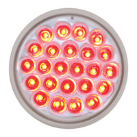 "LED 4"" Red Clear Pearl Light"