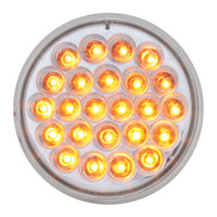 "LED 4"" Amber Clear Pearl Light"